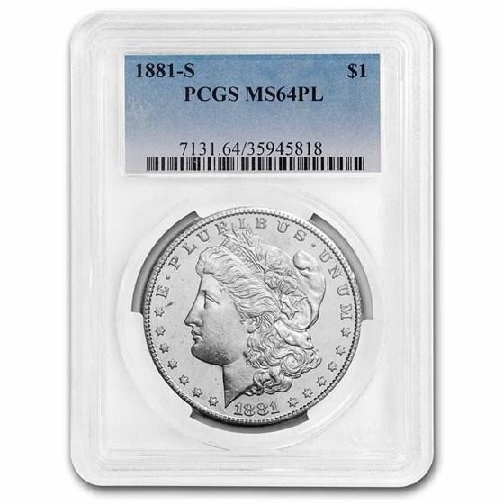 1881-S Morgan Dollar MS-64 PL PCGS