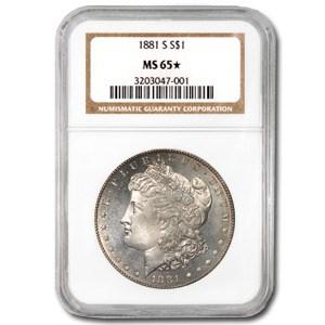 1881-S Morgan Dollar MS-65* NGC (Semi Proof Like Obv)