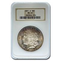 1881-S Morgan Dollar MS-65 NGC (Toned Obv)