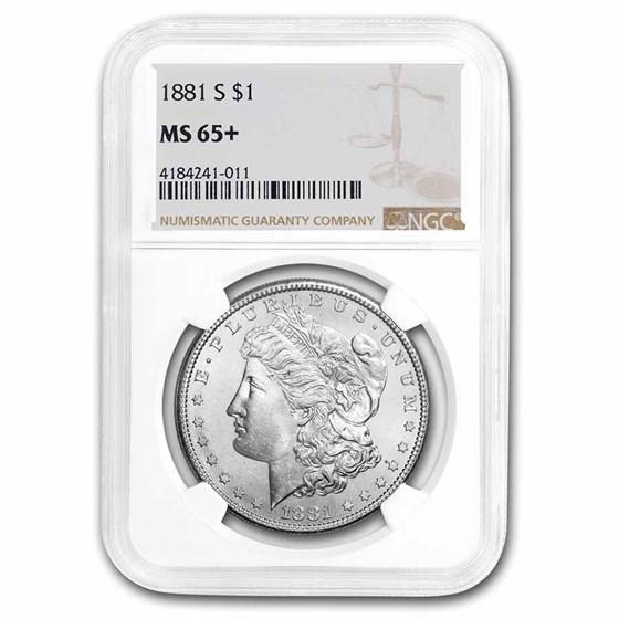 1881-S Morgan Dollar MS-65+ NGC