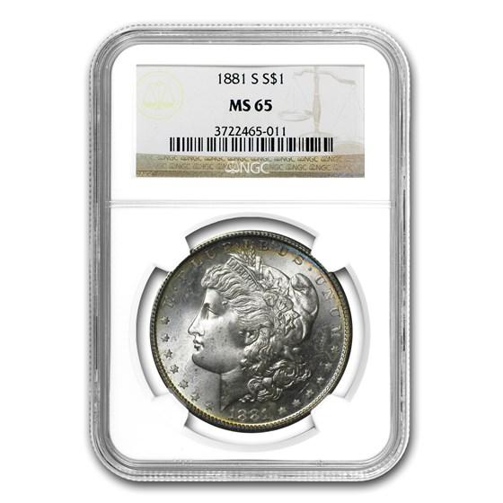 1881-S Morgan Dollar MS-65 NGC