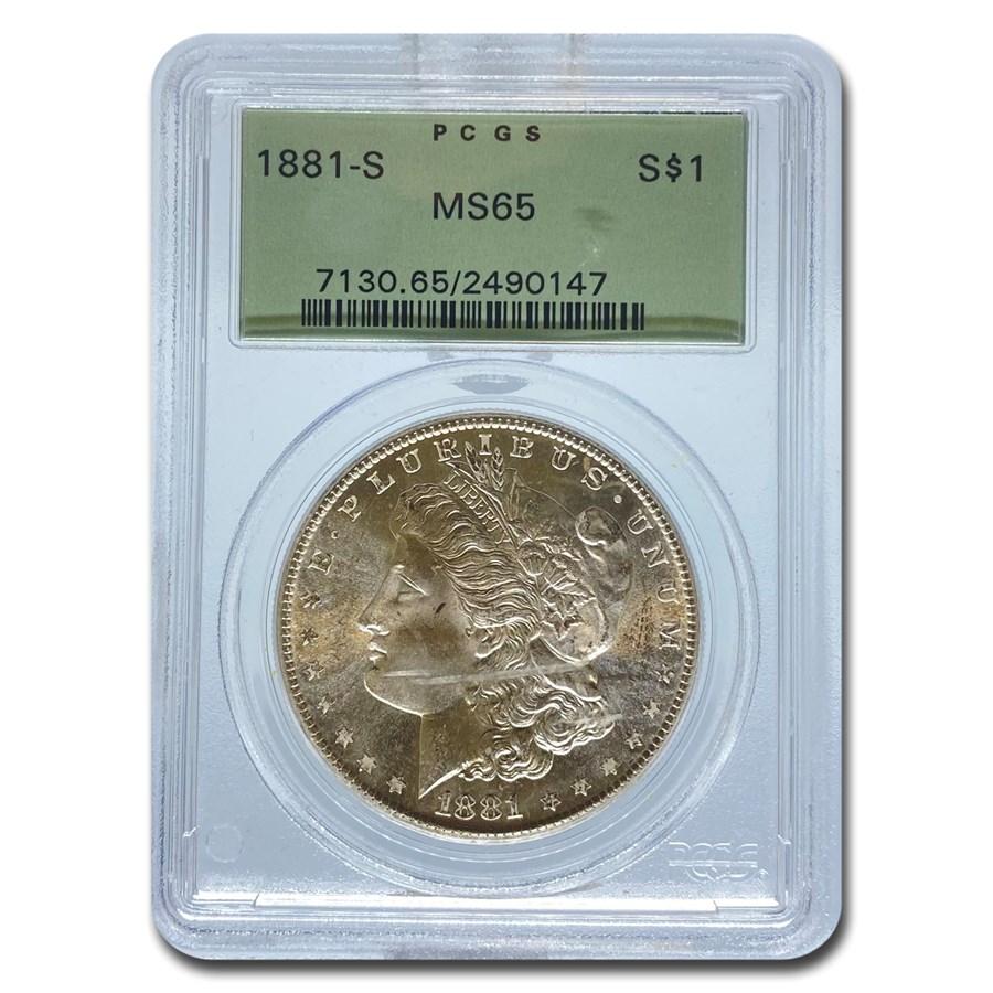 1881-S Morgan Dollar MS-65 PCGS (OGH)
