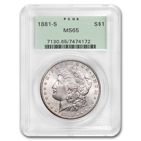 1881-S Morgan Dollar MS-65 PCGS (Old Green Holder)