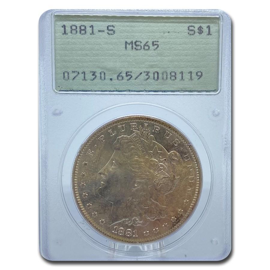 1881-S Morgan Dollar MS-65 PCGS (Old Rattler Holder)