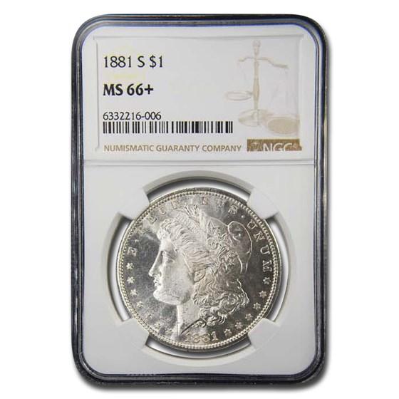 1881-S Morgan Dollar MS-66+ NGC (Plus)