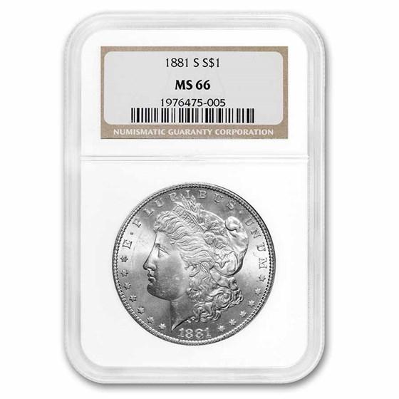 1881-S Morgan Dollar MS-66 NGC