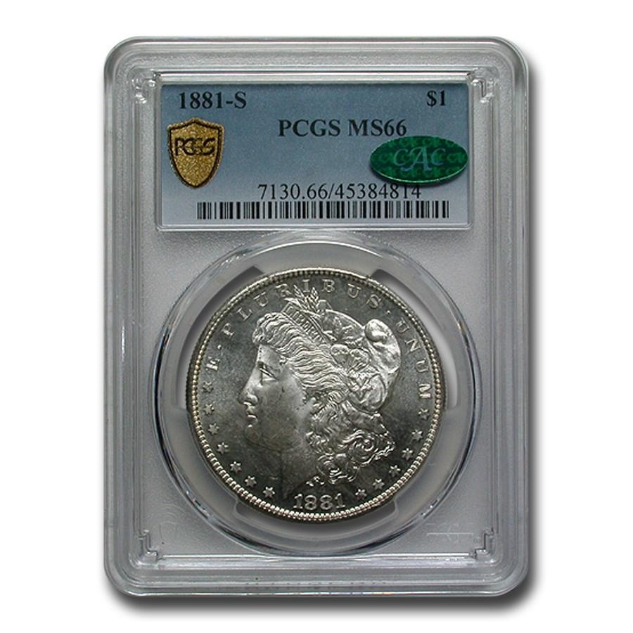 1881-S Morgan Dollar MS-66 PCGS CAC