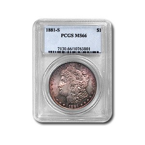 1881-S Morgan Dollar MS-66 PCGS (Very Attractively Toned)