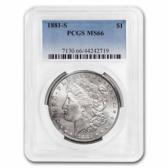 1881-S Morgan Dollar MS-66 PCGS
