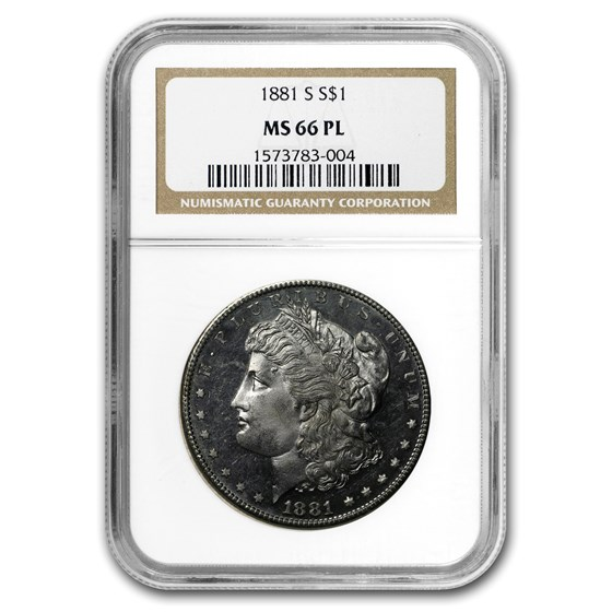 1881-S Morgan Dollar MS-66 PL NGC