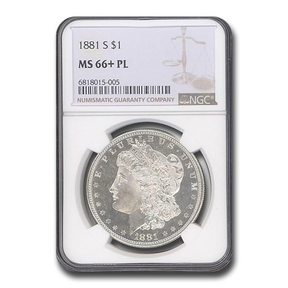 1881-S Morgan Dollar MS-66+ Plus PL NGC
