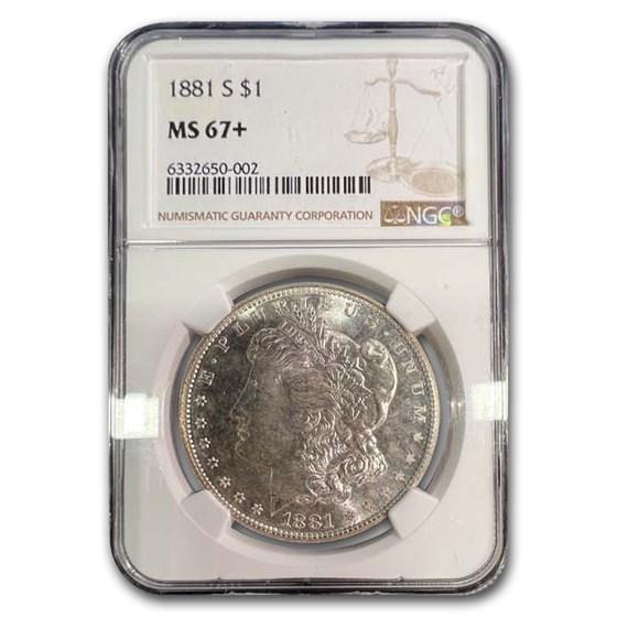 1881-S Morgan Dollar MS-67+ NGC