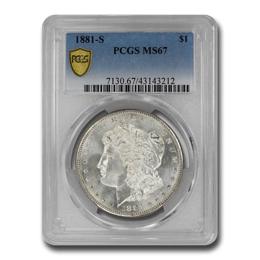 1881-S Morgan Dollar MS-67 PCGS CAC