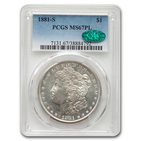 1881-S Morgan Dollar MS-67 PL PCGS CAC