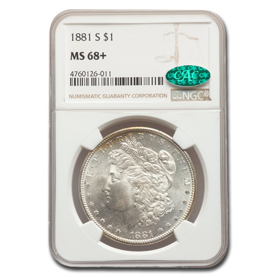 1881-S Morgan Dollar MS-68+ NGC CAC