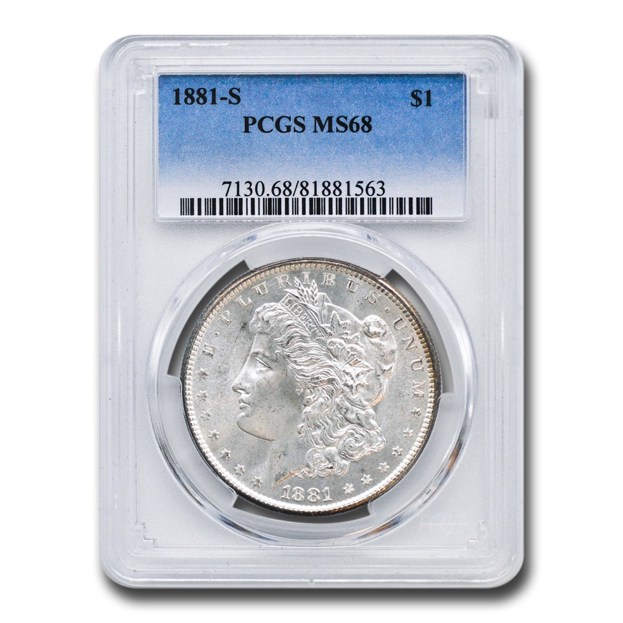1881-S Morgan Dollar MS-68 PCGS