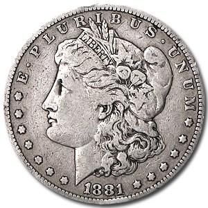 1881-S Morgan Dollar VG/VF