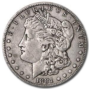 1881-S Morgan Dollar XF