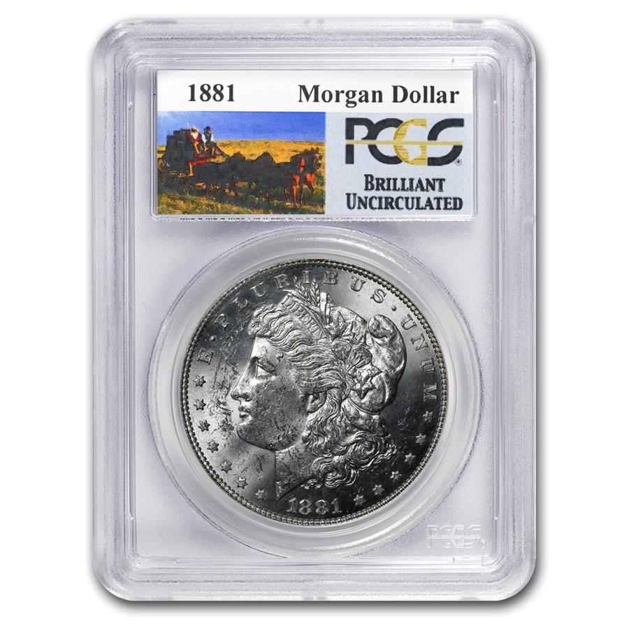 1881 Stage Coach Morgan Dollar BU PCGS