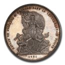 1881 Switzerland Fribourg Silver 5 Francs MS-64 PCGS