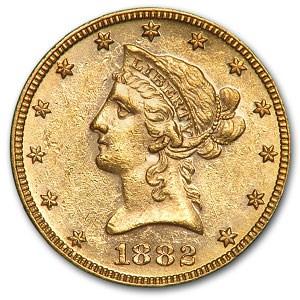 1882 $10 Liberty Gold Eagle AU