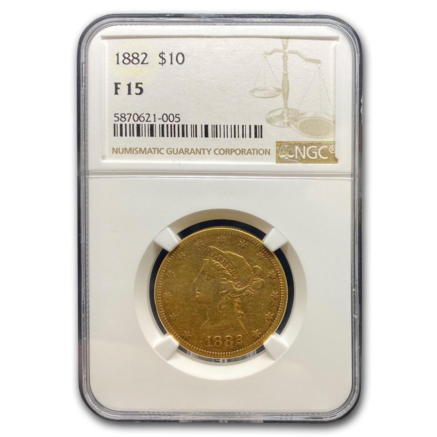 1882 $10 Liberty Gold Eagle Fine-15 NGC