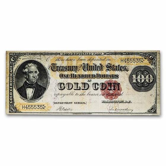 1882 $100 Gold Certificate VF (Fr#1210)
