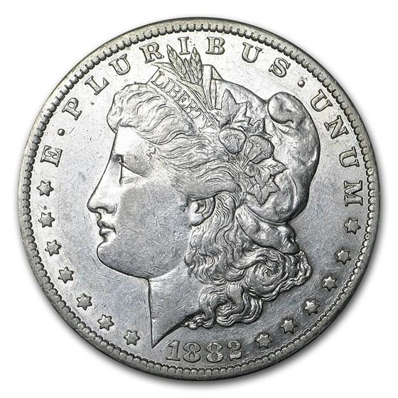 1882-CC Morgan Dollar AU