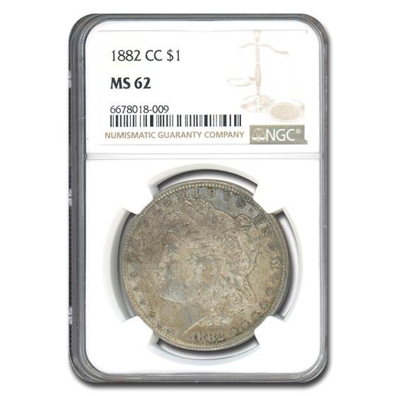 1882-CC Morgan Dollar MS-62 NGC