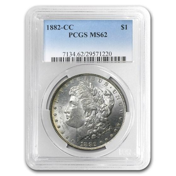 1882-CC Morgan Dollar MS-62 PCGS (Rev Toning)