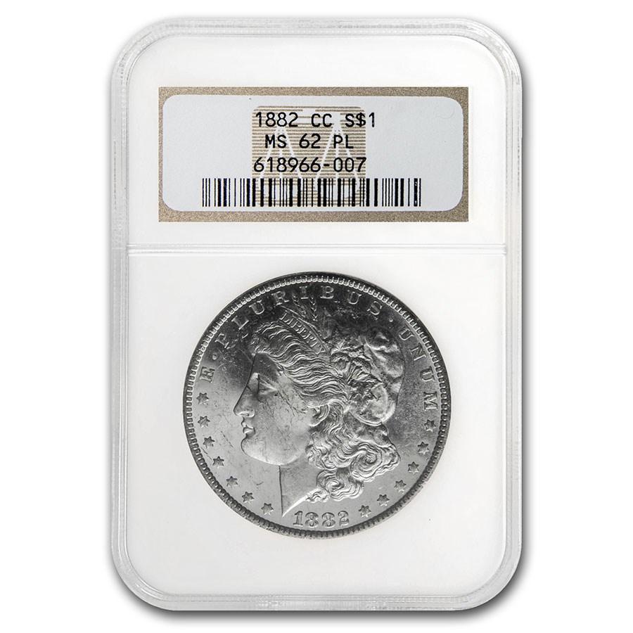 1882-CC Morgan Dollar MS-62 PL NGC