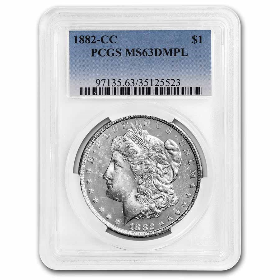 1882-CC Morgan Dollar MS-63 DMPL PCGS