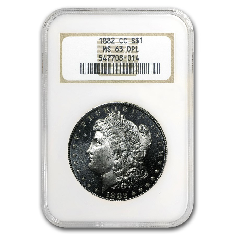 1882-CC Morgan Dollar MS-63 DPL NGC