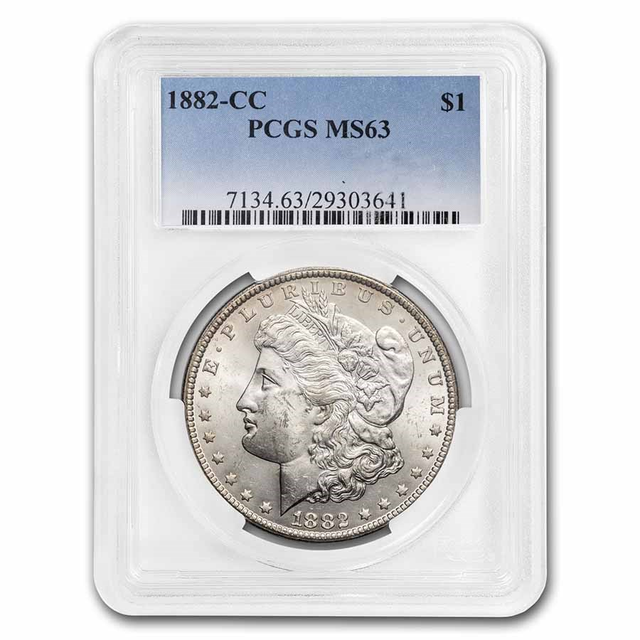 1882-CC Morgan Dollar MS-63 PCGS