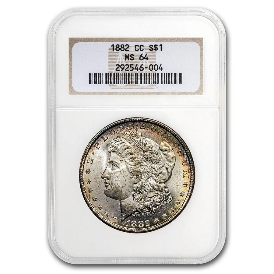 1882-CC Morgan Dollar MS-64 NGC (Old Gen Holder)