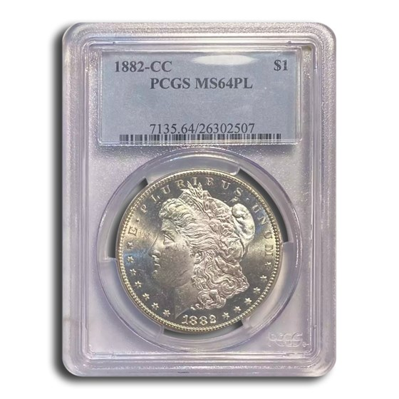 1882-CC Morgan Dollar MS-64 PL (Proof Like) PCGS