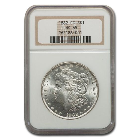 1882-CC Morgan Dollar MS-65 NGC