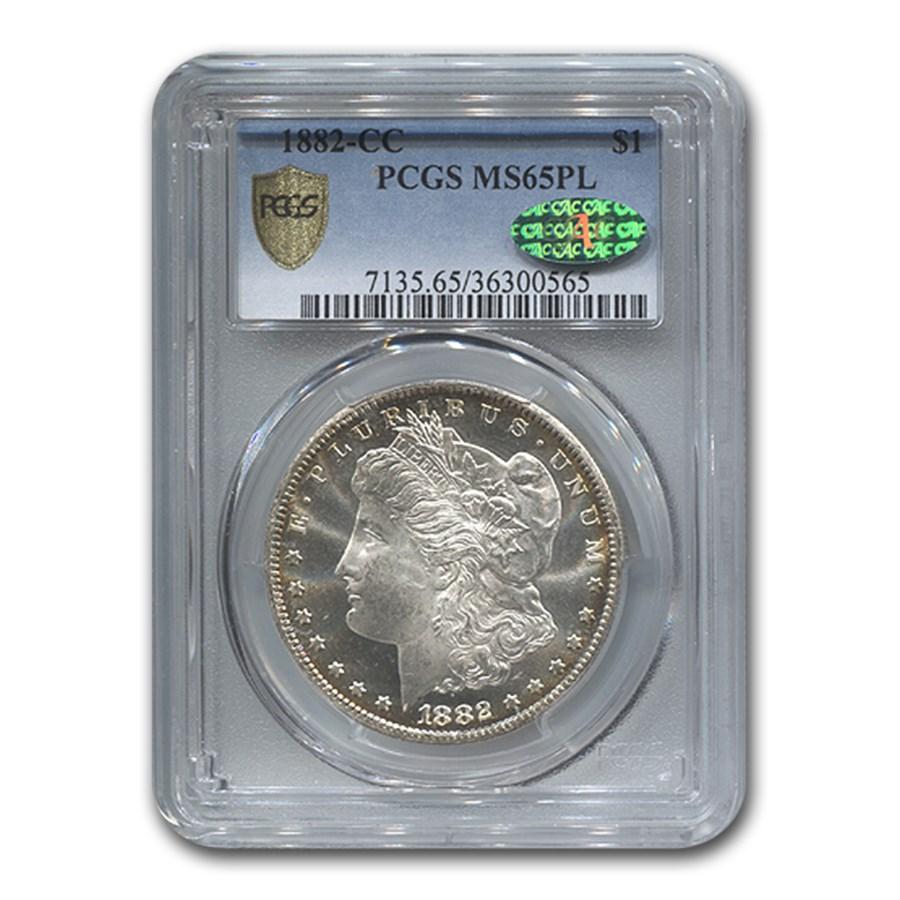 1882-CC Morgan Dollar MS-65 PL PCGS CAC