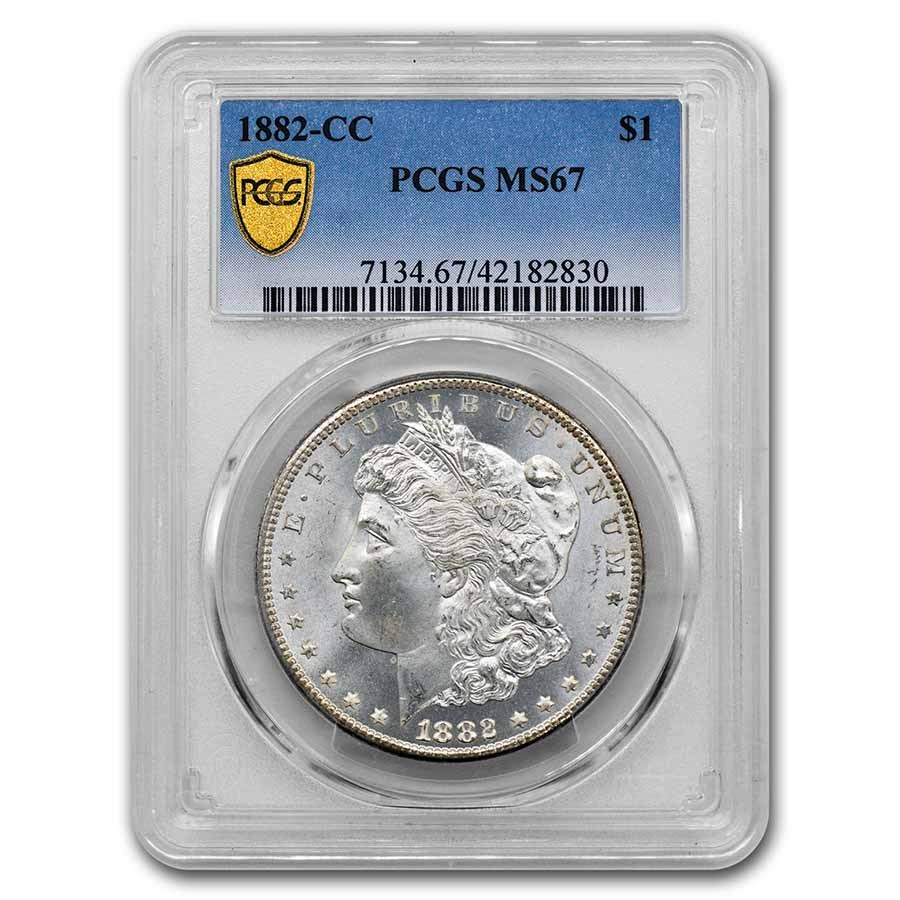 1882-CC Morgan Dollar MS-67 PCGS
