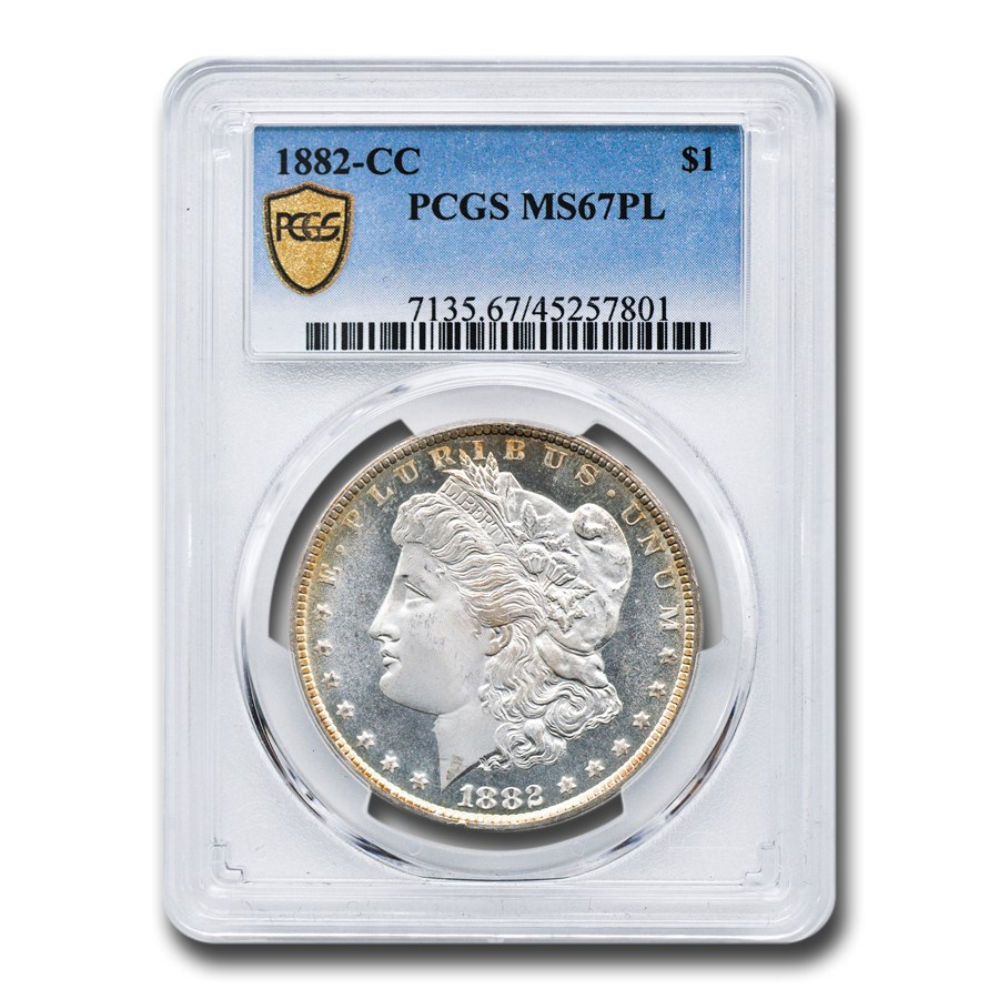 1882-CC Morgan Dollar PL MS-67 PCGS