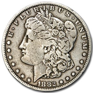 1882-CC Morgan Dollar VF Details (Cleaned)