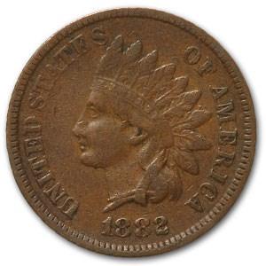 1882 Indian Head Cent VF