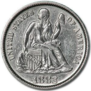 1882 Liberty Seated Dime AU (Details)