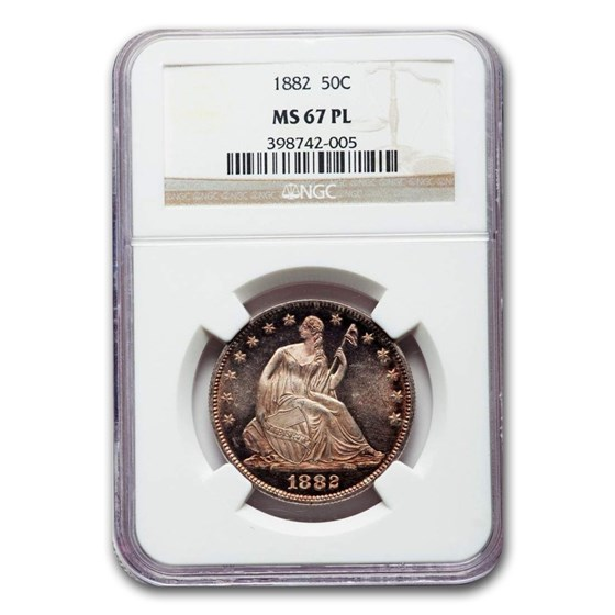 1882 Liberty Seated Half Dollar MS-67 NGC (PL)