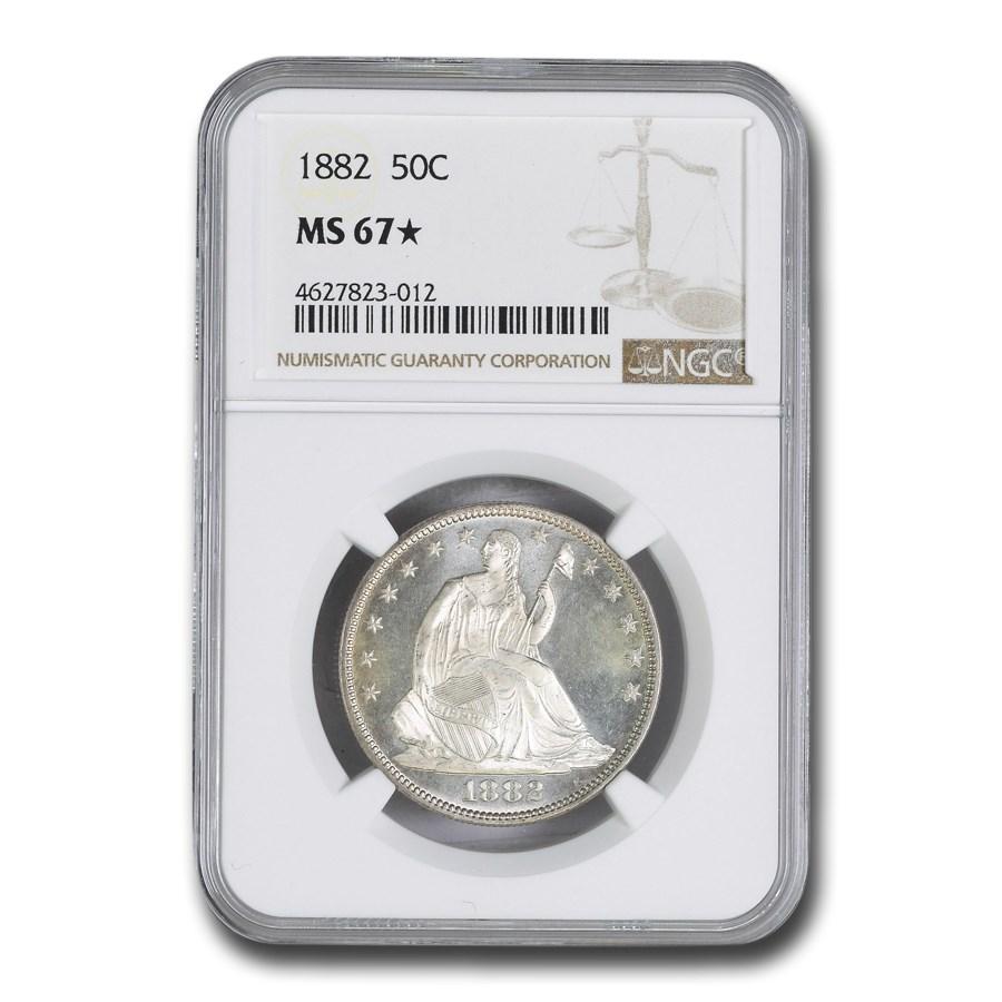 1882 Liberty Seated Half Dollar MS-67* NGC