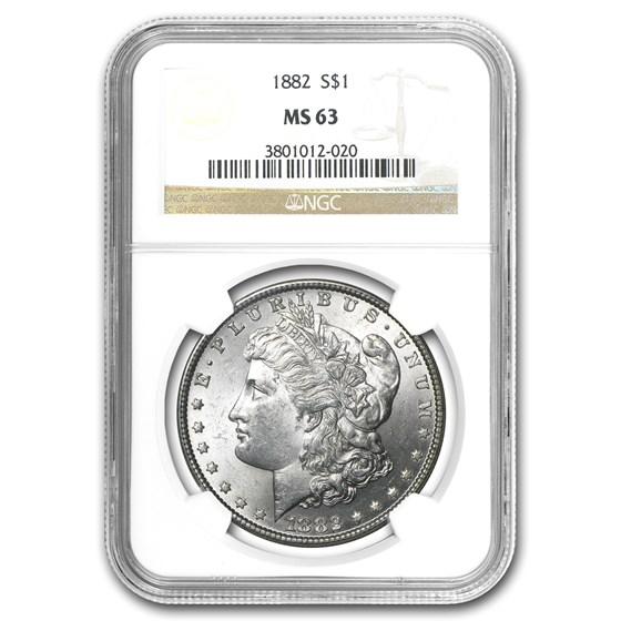 1882 Morgan Dollar MS-63 NGC