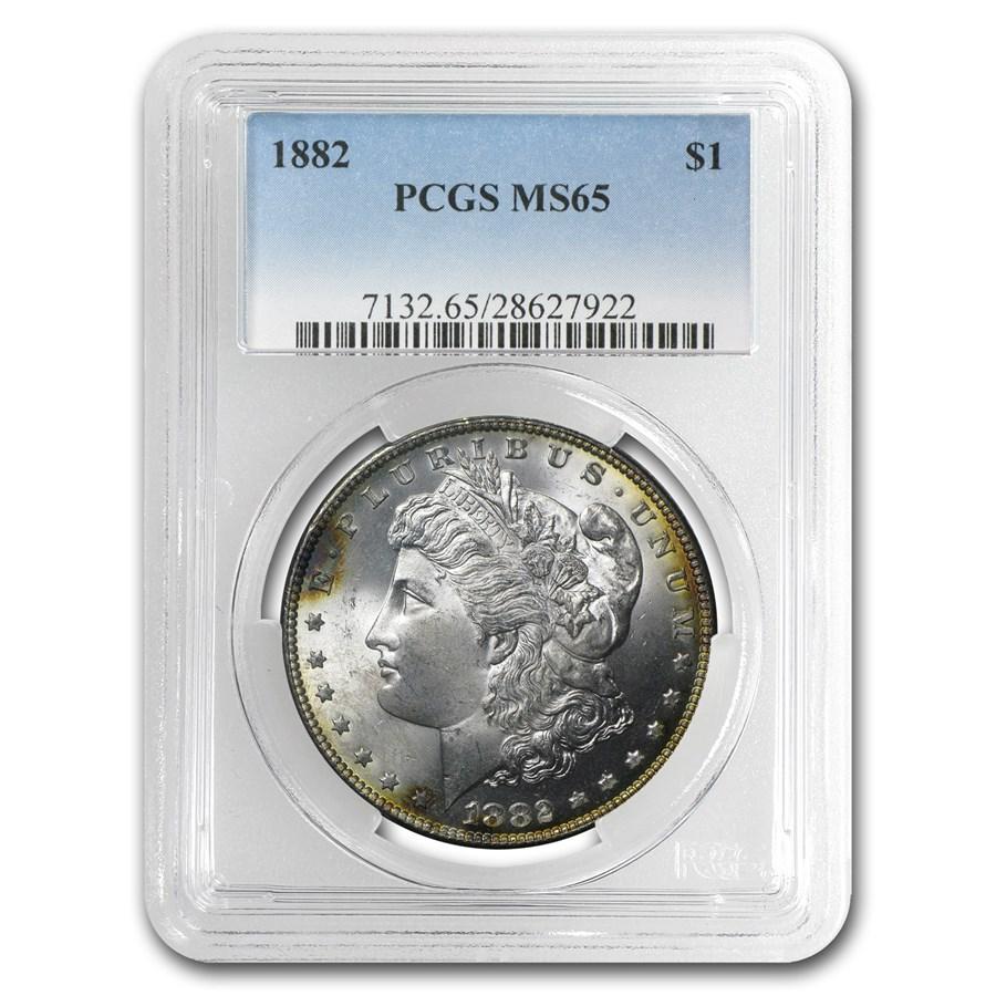 1882 Morgan Dollar MS-65 PCGS (Durum Toning)