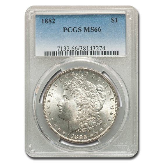 1882 Morgan Dollar MS-66 PCGS