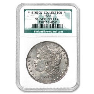 1882 Morgan Dollar NGC (Binion Collection)