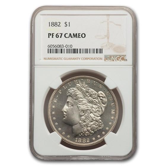 1882 Morgan Dollar PF-67 Cameo NGC